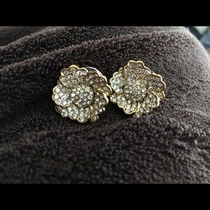 J. Crew flower earrings